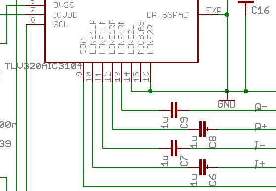 Schematic: ADC inputs